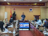 Ban chỉ đạo Quốc gia phòng, chống dịch COVID-19 tổ chức hội nghị trực tuyến tập huấn nâng cao năng lực của y tế cơ sở trong phòng, chống dịch COVID-19. Ảnh: Tuấn Dũng