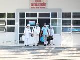 2 bênh nhân công bố khỏi bệnh tại Bệnh Viện Đa khoa tỉnh Ninh Thuận. Ảnh: Phạm Hằng