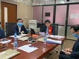 Bộ Y tế Viêt Nam họp trực tuyến với Bộ trưởng Bộ Y tế Lào. Ảnh: Phạm Hằng