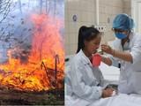 Bệnh nhân nhập viện trong tình trạng sốc nhiệt vì đốt nương làm rẫy. Ảnh: Bệnh viện Bạch Mai