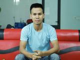 Anh Nguyễn Ngọc Mạnh - người đã dũng cảm cứu bé gái (Ảnh - Đinh Huy)
