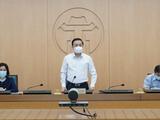Ông Chử Xuân Dũng - Phó Chủ tịch UBND TP. Hà Nội chủ trì cuộc họp phòng COVID-19 (Ảnh - Phú Khánh)