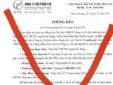 Thông báo của Công ty TTC về việc tiêm vaccine phòng COVID-19 là thông tin lừa đảo (Ảnh - Đình Anh)