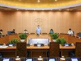 Toàn cảnh cuộc họp trực tuyến UBND TP. Hà Nội (Ảnh - Trung Nguyên)