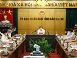Toàn cảnh buổi làm việc của Phó Thủ tướng Chính phủ Lê Văn Thành với tỉnh Bắc Giang về tình hình phòng, chống dịch COVID- 19 (Ảnh - Đức Duy)