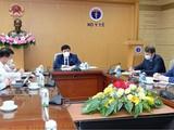 Bộ trưởng Bộ Y tế Nguyễn Thanh Long làm việc với Quỹ Đầu tư Trực tiếp Nga về vấn đề vaccine phòng COVID-19 (Ảnh - Trần Minh)