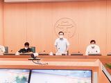 UBND TP. Hà Nội họp trực tuyến với các quận, huyện về công tác phòng, chống dịch COVID-19 (Ảnh - Phú Khánh)