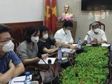 PGS.TS. Nguyễn Trường Sơn - Thứ trưởng Bộ Y tế - chỉ đạo cuộc họp phòng, chống dịch COVID-19 tại TP. HCM (Ảnh - BYT)