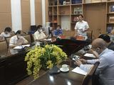 PGS.TS Lương Ngọc Khuê – Cục trưởng Cục Quản lý Khám, chữa bệnh, Bộ Y tế - chủ trì cuộc họp (Ảnh - BYT)