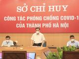 Chủ tịch UBND TP. Hà Nội - phát biểu trong cuộc họp Sở chỉ huy công tác phòng, chống dịch COVID-19 của TP. Hà Nội với các sở, ngành, quận, huyện (Ảnh - Phú Khánh)