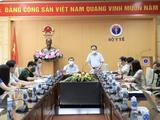 Hội đồng Đạo đức trong nghiên cứu Y Sinh học Quốc gia họp khẩn cấp với Thứ trưởng Bộ Y tế Trần Văn Thuấn về việc xem xét dữ liệu thử nghiệm lâm sàng vaccine phòng COVID-19 Nanocovax (Ảnh - Nguyễn Nhiên)