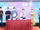 Cục CNTT (Bộ Y tế) ký bản ghi nhớ hợp tác với Tập đoàn SOVICO và tiếp nhận phần mềm tổng hợp, phân tích, báo cáo tình hình dịch COVID-19 và phần mềm quản lý thu mẫu xét nghiệm COVID-19 (Ảnh - Cục CNTT)