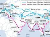 Tuyến đường Hàng hải và Đường bộ trong Sáng kiến Vành đai Con đường của Trung Quốc.