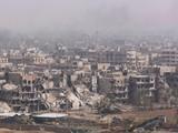 Sự hoang tàn tại phía nam thủ đô Damascus, Syria sau 8 năm nội chiến.