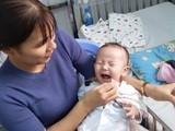 Bệnh viện Nhi đồng 1 chữa trị thành công bệnh rối loạn nhịp tim ở bệnh nhi 7 tháng tuổi. Ảnh: BVCC