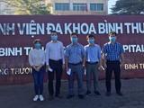 Nhiều bác sĩ BV Chợ Rẫy tức tốc đi Bình Thuận phòng chống COVID-19. Ảnh: Bệnh viện Chợ Rẫy cung cấp