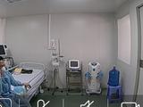 Bệnh nhân tại phòng cách ly áp lực âm BV Dã chiến Củ Chi (TP.HCM). Ảnh: SYT