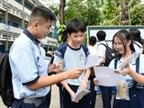 Các thí sinh ở TP.HCM trong kỳ thi tuyển sinh vào lớp 10. Ảnh: Tuổi trẻ