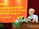 Tổng bí thư Nguyễn Phú Trọng tại Hội nghị