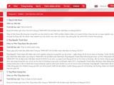 Website của Vietlott không còn tên ông Trường. Ảnh VietTimes
