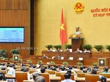 Toàn cảnh phiên biểu quyết (Nguồn: quochoi.vn)