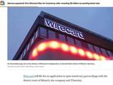 Hãng tin CNBC đưa tin Wirecard phá sản, với ảnh chụp trụ sở Wirecard tại Đức