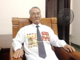 Ông Lâm Sơn Náo tại nhà riêng ở phường Tân Kiểng, quận 7 – TP.HCM.