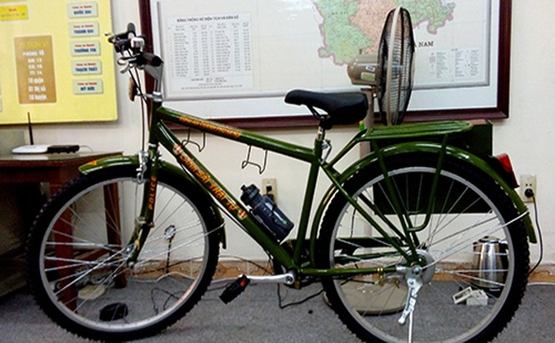 Chiếc xe đạp sẽ trang bị cho cảnh sát trật tự phường và quận để tiếp cận các ngõ, ngách, đường, phố nhỏ để vận động, tuyên truyền, nhắc nhở trực tiếp đến từng người dân trên địa bàn.