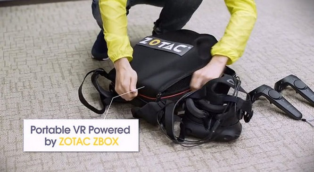 Zotac Mobile VR - thiết bị VR đeo trên vai