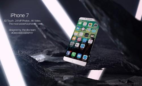 """iPhone 7 màn hình tràn cạnh, pin """"siêu khủng"""" xuất hiện"""