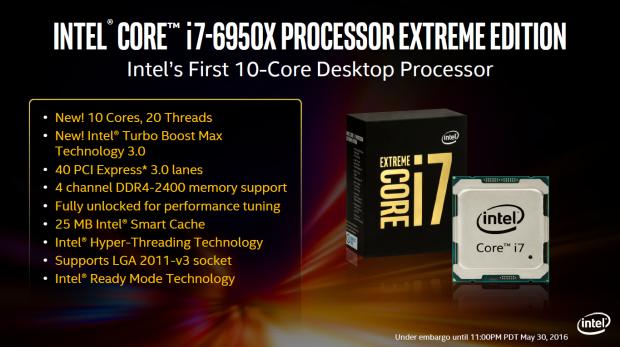 "BXL 10 lõi Intel Core i7-6950X Extreme Edition ""đội"" giá 1.723 USD"