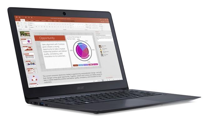 Cận cảnh laptop siêu di động Acer TravelMate X349