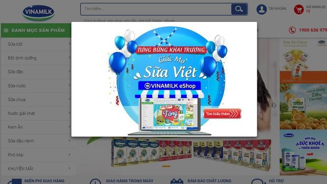 Vinamilk ra mắt website thương mại điện tử Giấc mơ sữa Việt