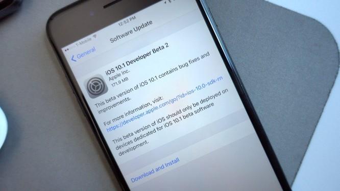 Apple phát hành rộng rãi iOS 10.1 beta 2