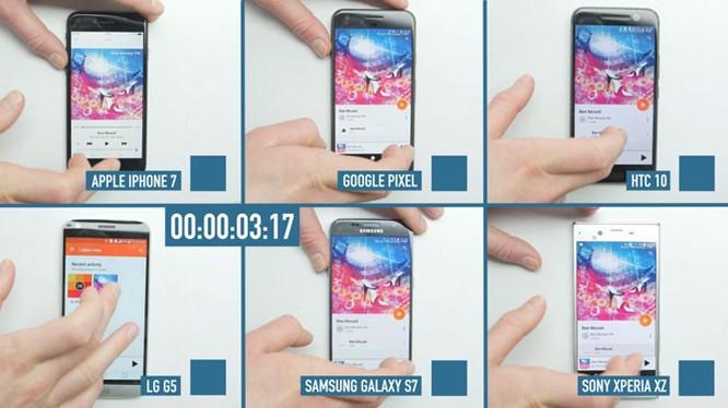 Cuộc đua tốc độ của 6 flagship: iPhone 7 vượt trội