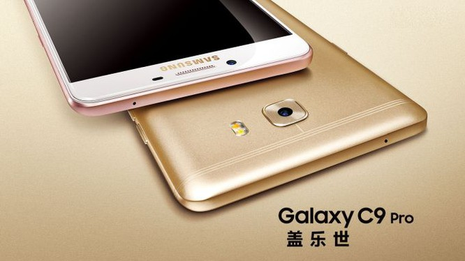 Khui hộp Galaxy C9 Pro: RAM 6GB, pin 4000mAh, selfie 16MP