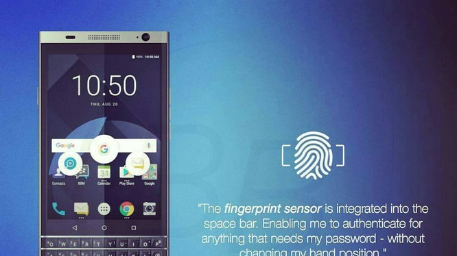 TCL khoe smartphone BlackBerry Mercury sắp ra mắt