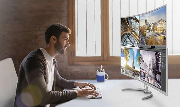 Philips giới thiệu màn hình cong 4K khung hình khủng