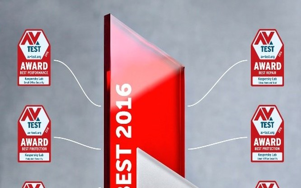 Kaspersky chiếm ưu thế tại AV-Test Award 2016.