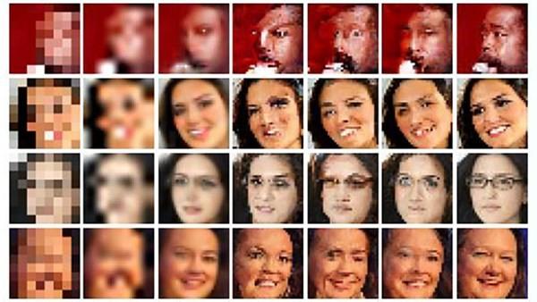 Hình ảnh độ phân giải thấp qua các bước làm rõ sử dụng phần mềm đặc biệt của Google.