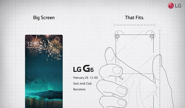 Hình ảnh được xem là bằng chứng cho thấy chiếc LG G6 có thiết kế viền màn hình siêu mỏng.