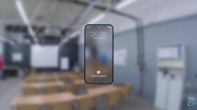 Chiêm ngưỡng bản dựng iPhone 8 không viền trong suốt