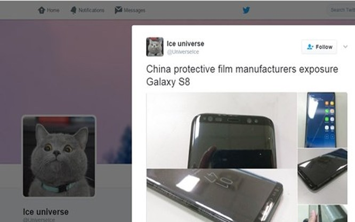 Tiếp tục rò rỉ ảnh thực tế Samsung Galaxy S8
