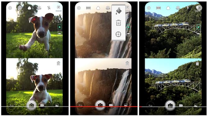 LG 'nhá hàng' giao diện chụp ảnh vuông trên G6