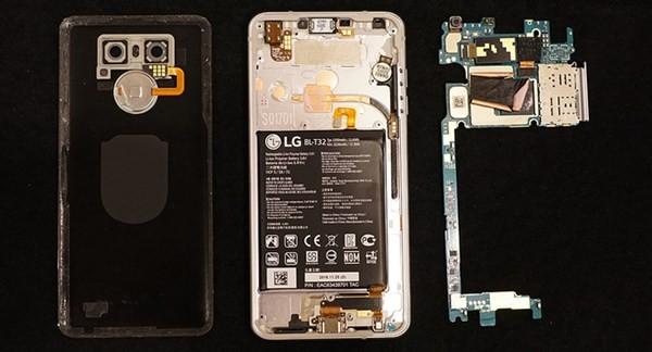 Nội thất của chiếc LG G6 vừa ra mắt.