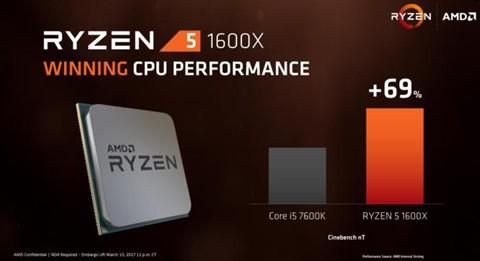 AMD tự tin về khả năng của Ryzen 5 so với Intel Core i5