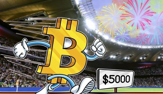 Vượt ngưỡng 5000 USD, giới hạn nào cho những kỷ lục vô tiền khoáng hậu của Bitcoin? (Ảnh:hocviendautu)
