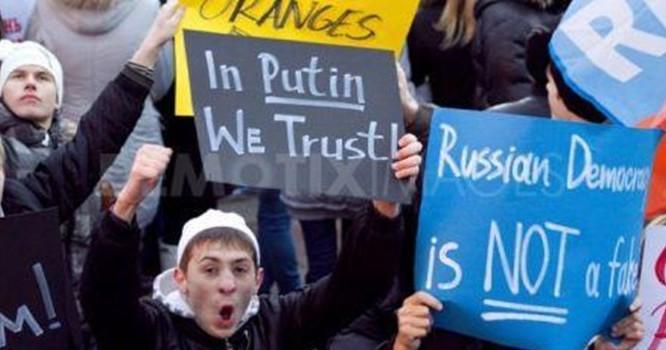 Giới trẻ Nga ủng hộ ông Putin.