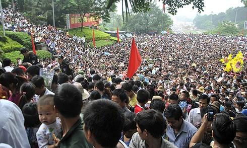 Ước tính có khoảng hơn 2 triệu người đi lễ đền Hùng sáng mùng 10/3 âm lịch