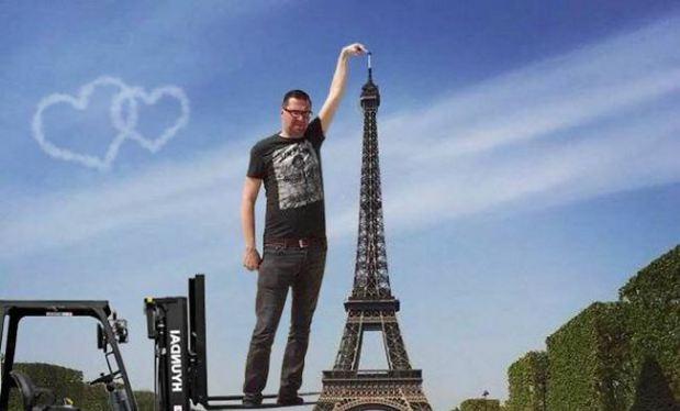 """""""Chết cười"""" với ảnh chế cùng tháp Eiffel của cư dân mạng"""